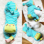Newborn Infant Baby Boys Girls Romper Bodysuit Jumpsuit Outfits Striped Clothes