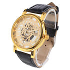 Fashion Lover's Women Men's Mechanical Wrist Watch Leather Band Automatic