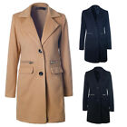Vogue Women Ladies Warm Wool Long Coat Winter Jacket Trench Overcoat Outwear W2W