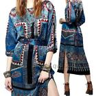 Ethnic Folk Tribal Summer Bach Mid-calf Evening Party Prom Midi Dress US Local