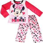 new kids Girls Minnie mouse winter pyjama pjs fleece sets size 4-10 sleepwear
