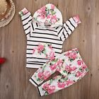 Cute 2PCS Newborn Kids Baby Girl T-shirt Tops+Long Pants Outfits Set Clothes