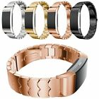 Genuine Stainless Steel Watch Band Bracelet Strap Wristband For Fitbit Charge 2