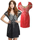 Sugarhill Boutique Black / Red & White 8-16 Dress Spotty Butterfly Polka Dot
