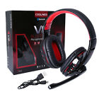 Wireless Bluetooth Gaming Headset Headphone with Mic for Phone PS3/4 Laptop PC