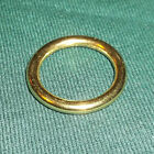 """1 Inch solid brass """"O"""" ring, horses, boating, leather craft,SELECT YOUR QUANTITY"""