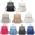 Women Girls Fashion PU Leather Shoulder School Travel Bag Backpack