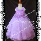 PBR9 Flower Girl Wedding Junior Bridesmaids Formal Prom Rhinestones Gown Dress