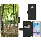 Phone Card Slot PU Leather Wallet Case For Samsung Bamboo tress in the wild