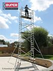 Super DIY Up To 7.5m Aluminium Scaffold Tower / Towers - British Design <br/> Including 4 X Stiffeners worth &pound;90 for FREE