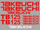Decal Sticker set for: TAKEUCHI TB125 Mini Digger Bagger Pelle Autocollant