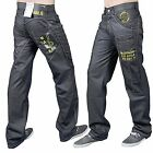 MEN'S BLACK SKINNY JEANS DENIM STAR FASHION REGULAR SLIM FIT TROUSER STY 5