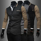 New Fashion Men's Hot Casual Designed Stylish Slim Fit Jacket Top Coat 0303