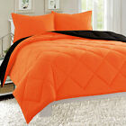 Quilts Bedspreads Coverlets - Empire Reversible 3pc Comforter Set Microfiber Quilted Bed Cover Soft Bedding