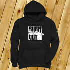 BURN OUT STREET RACING CAR DRIFTING FAST SPEED Mens Black Hoodie