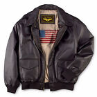 Leather++ Men's Air Force A-2 Leather Flight Bomber Jacket - Free delivery for sale  USA