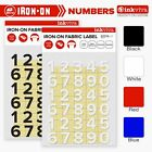 Inkviva Iron On Number Heat Transfer Label Motif Patch for Fabric -12mm