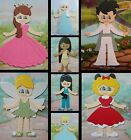 DISNEY PRINCESS POP STAR FAIRY ANGEL HOBBIT ELVIS ALICE DOLL CARD TOPPER