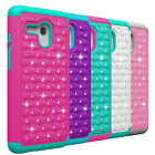 Luxury Crystal Bling Armor Phone Case For Alcatel One Touch Flint/Pixi Glory LTE