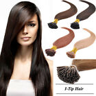 50g 100pcs 8A Remy Real Hair I Tip Human Hair Extensions + Free Micro Beads