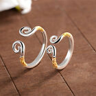 New Sterling Adjustable Ring Couple Inhibiting Women Men 928 Silver Lovers Gift