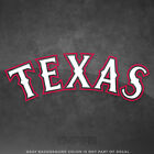 Texas Rangers Jersey Logo Vinyl Decal Sticker MLB 4 and Larger Glossy
