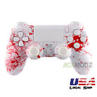 Blood Patterned Full Set Shell Case Buttons Repair for PS4 Controller