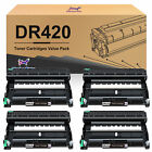 High Yield TN450 Toner or Drum DR420 Lot for Brother MFC-7360N 7460DN MFC-7860DW