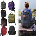 Mens Girls Unisex Retro Backpack Rucksack School College Travel Laptop Work Bag