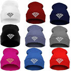 "Women's Winter Warm "" Diamond "" Plain BEANIE Knit HAT HATS Ski Cap 9 Colors"