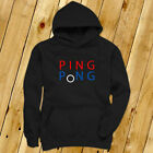 PING PONG BALL TABLE TENNIS PADDLE PLAYER GAMES Mens Black Hoodie