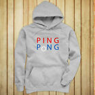 PING PONG BALL TABLE TENNIS PADDLE PLAYER GAMES Womens Gray Hoodie