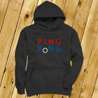 PING PONG BALL TABLE TENNIS PADDLE PLAYER GAMES Mens Charcoal Hoodie