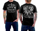 Vintage Rockabilly Old School T-Shirt - Rat Rod Garage Built Gasoline Wh