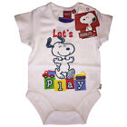 New Official Snoopy Babygrow / Bodysuit / Romper Baby Boy & Girl 3-24 Months