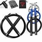 RDX Adjustable Skipping Rope PVC Coated Jumping Speed Exercise Gym image