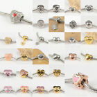 New Heart Style 316L Stainless Steel Charms Spacer Beads for Women DIY Bracelets
