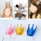 6Pcs Kids Adult Shiny Birthday Hat Cap Crown Prince Princess Party Decoration