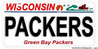 Wisconsin Green Bay Packers Team Names Aluminum License Plate 12 Choices on eBay