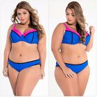 Womens Stylish Patchwork Plus Size Swimsuit Cool Bikini Bathing Suit Bathingsuit