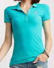 Short Sleeve Women Solid Classic Style Polo Shirt Aeropostale