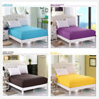 Solid Fitted Sheets 100% Cotton King/Queen/Double/Single Size Or Pillowcases New