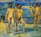 Classic Symbolist Art Print - Bathing Men by Edvard Munch