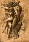 Classic Italian Renaissance Art Sketch - Nude Study Number One by Michelangelo