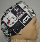 STAR WARS The Force Awakens Black Grid TRADITIONAL Unisex Surgical Scrub Hat Cap $15.5 USD