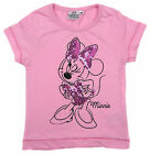 Girls Minnie Mouse Pink T-shirt With Sequin Detail 6-9 Months up to 3-4 Years