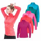 Trespass Fairford Womens Ladies Long Sleeve Top Active Fleece for Yoga Running