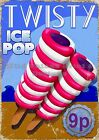 RETRO METAL PLAQUE : TWISTY ice pop sign/ad
