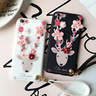 3D Korea Sika Deer Flower iPhone TPU Back Case Cover For iPhone 6 7 7plus