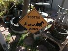 Authentic SCOTTIE XING Thick Metal Sign by Noble Beast Graphics 1990
